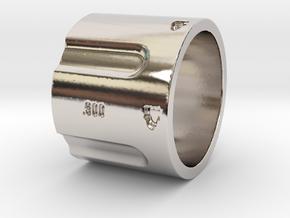 500 5-Shot Revolver Cylinder, Ring Size 10 in Platinum