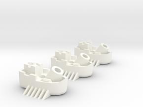 Fantasy Fleet Mortar Boats in White Processed Versatile Plastic
