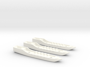 Fantasy Fleet Corvettes in White Processed Versatile Plastic
