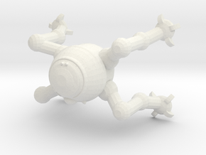D5-p10 Astromech Droid in White Natural Versatile Plastic