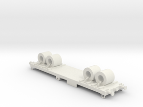 Flat wagon with load #1 in White Natural Versatile Plastic