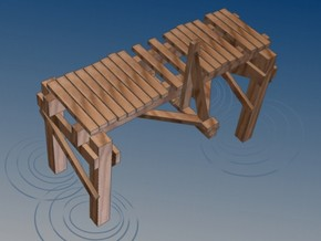 2 In Picturesque Wood Bridge in White Natural Versatile Plastic