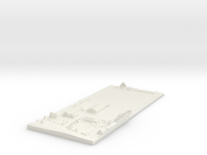Bleiswijk Stable Map, Netherlands in White Natural Versatile Plastic