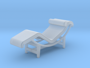 1:48 Le Corbusier Chaise Lounge LC4 Chair in Smooth Fine Detail Plastic