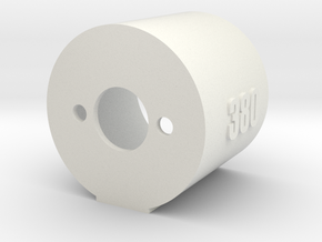 Motor Mount 380 - Version 2 in White Natural Versatile Plastic