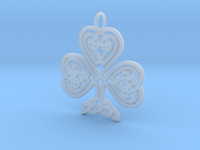 Celtic Shamrock Pendant Elegant Irish Charm in Smooth Fine Detail Plastic