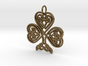 Celtic Shamrock Pendant Elegant Irish Charm in Natural Bronze