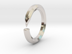Herbert S. - Pencil Ring in Rhodium Plated Brass: 6 / 51.5
