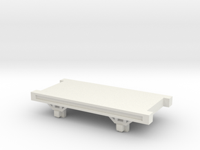 OO9 NG Truck / Wagon Chassis in White Strong & Flexible