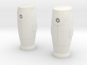 1/60 Bornes d'incendie / Fire hydrant X 2 in White Natural Versatile Plastic