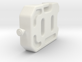 1/10 Scale 10 litre Jerry Can  in White Strong & Flexible