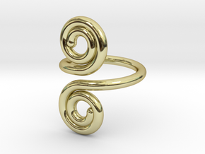 Wrap Ring in 18k Gold Plated Brass