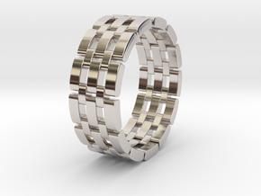 Watara - Ring in Rhodium Plated Brass: 6 / 51.5