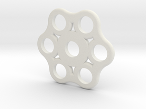 Hex Spinner in White Natural Versatile Plastic