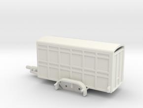 1042 Kleintiertransportanhänger in White Natural Versatile Plastic: 1:87 - HO