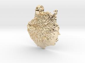 Colgante de Gran Canaria in 14k Gold Plated Brass