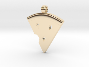 MelonSlice_Pendant in 14K Yellow Gold: Large