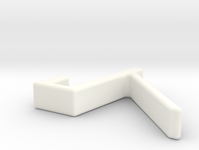 Portable monitor bracket  in White Processed Versatile Plastic