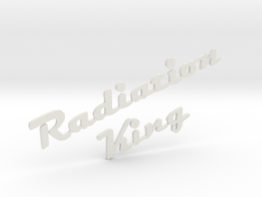 Radiation King Logo For Fallout 4 Radio in White Strong & Flexible