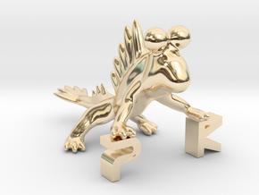 The Parallelkeller Mudskipper Stand in 14k Gold Plated Brass