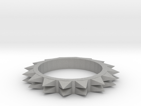 Spiked Ring Size 8 in Aluminum