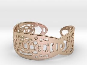 UI9 Design Bracelet 5,8 cm in 14k Rose Gold Plated Brass