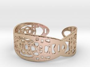 UI9 Design Bracelet 5,8 cm in 14k Rose Gold Plated Brass