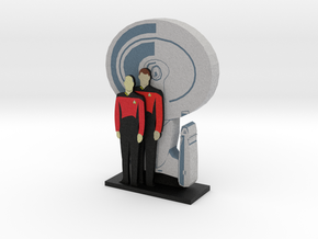 Enterprise: Picard and Riker = DESKAPADES = in Full Color Sandstone: Small