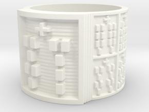 OSAFUN Ring Size 14 in White Processed Versatile Plastic