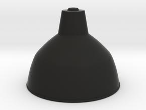 1:12 Lampshade industrial in Black Natural Versatile Plastic