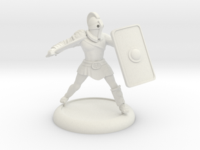 Secutor Gladiator with customisable shield in White Natural Versatile Plastic