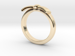 Martial Arts Belt Ring in 14K Yellow Gold: 6 / 51.5