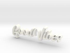 GoodVibes Pendant in White Processed Versatile Plastic: Extra Small
