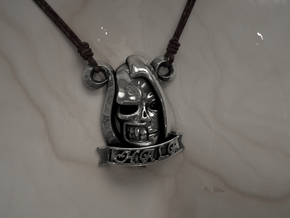 Half Skull in Polished Silver