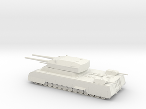 Landkreuzer P.1000 Ratte 1/285 Scale in White Strong & Flexible