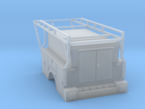 Standard Truck Bed With Enclosed Full Box 1-87 HO  in Smooth Fine Detail Plastic