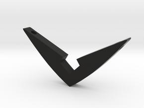 V Pendant Large (2.15 inch) in Black Natural Versatile Plastic: Large