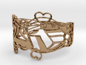 Joke Ring Design Ring Size 6.5 in Polished Brass