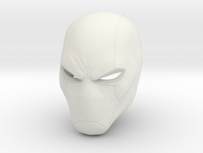 Red Hood new 52 style Helmet  in White Natural Versatile Plastic