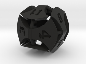 Greataxe D12 in Black Natural Versatile Plastic