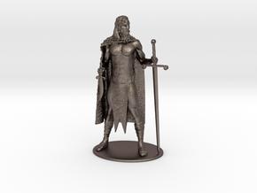 AdventureQuest: Jaern Barbarian Miniature in Polished Bronzed Silver Steel: 1:60.96