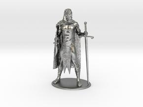 AdventureQuest: Jaern Barbarian Miniature in Natural Silver: 1:60.96