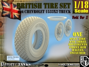 1-18 Chevy LRDG Sample Tire And Rims For FUD in Smooth Fine Detail Plastic