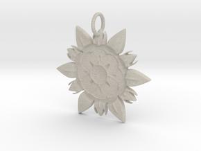 Elegant Chic Flower Pendant Charm in Natural Sandstone