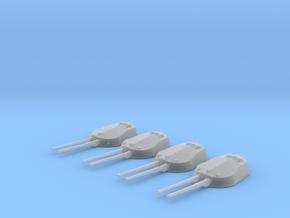 "1/700 RN WW1 13.5"" MKV Guns x4 HMS Tiger in Smoothest Fine Detail Plastic"
