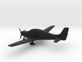 Cirrus SR22 in Black Natural Versatile Plastic: 1:96