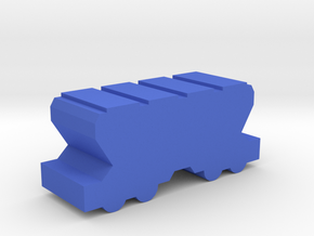 Game Piece, Freight Train Hopper Car in Blue Processed Versatile Plastic