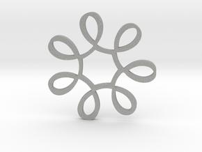Looped Circle Pendant in Raw Aluminum
