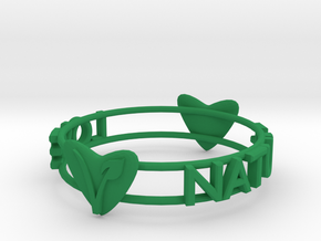 Love Nature Vegan Bracelet in Green Processed Versatile Plastic: Medium
