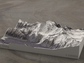 Aoraki/Mt. Cook, New Zealand, 1:100000 Explorer in Full Color Sandstone